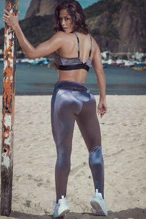 SUPERHOT LEGGING PANTS ESSENCIAL - SILVER